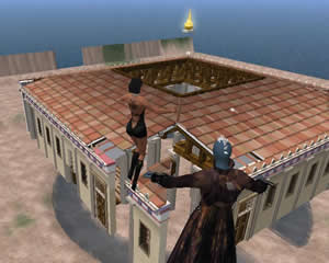 Building the Odeion of Pericles in Second Life